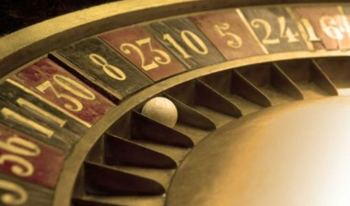 Ball on and old roulette with numbers
