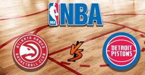 Atlanta Hawks Vs Detroit Pistons With NBA Logo