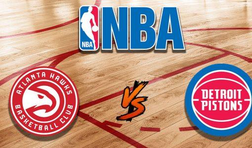 Atlanta Hawks Vs Detroit Pistons With NBA Logo