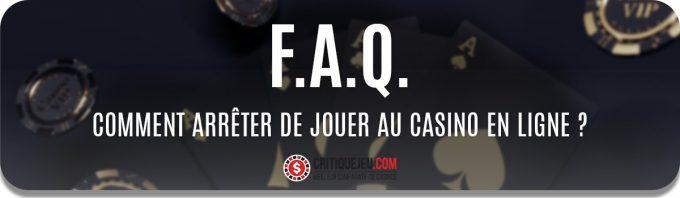 Comment arrêter de jouer au casino en ligne ? 5 étapes pour stopper